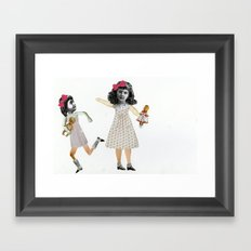 Little girls Framed Art Print