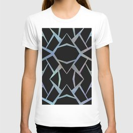 Abstract Blue & Black Design large T-shirt