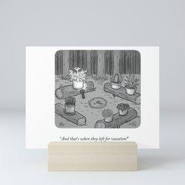 Houseplant Scare Mini Art Print