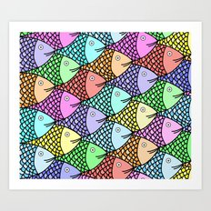 Colored Fish Art Print