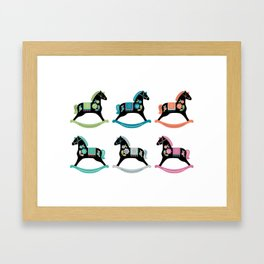 Rocking Horses Framed Art Print