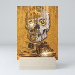 Golden skull Mini Art Print