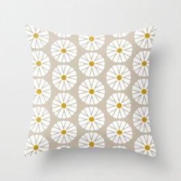 Botanical Daisies Minimal Pattern - #03 Throw Pillow