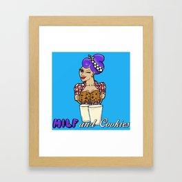 Milf and Cookies Framed Art Print