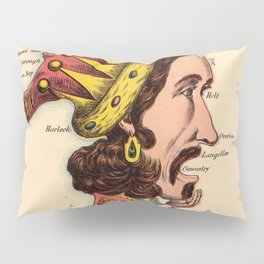 Vintage Prince of Wales Map (1869) Pillow Sham