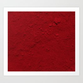 Rojo Absoluto Art Print