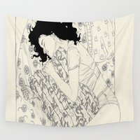 sleep Wall Tapestries featuring T-S.G. (Sleep Well) by Kaethe Butcher
