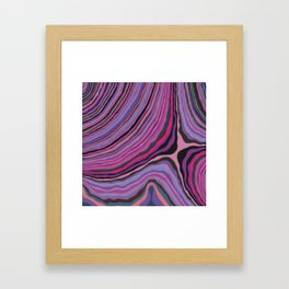 Mineralicious~Pink Agate Framed Art Print