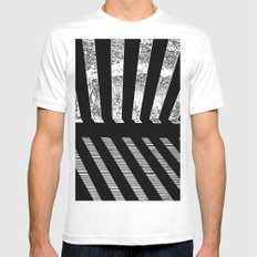 Parallel shadows 1 Mens Fitted Tee MEDIUM White