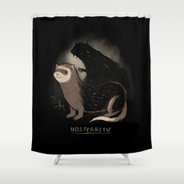 nosferretu Shower Curtain