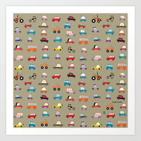 cars Art Prints featuring Cars by Marcelo Badari