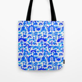 Exotic Garden Blue Tote Bag