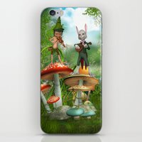 concert iPhone & iPod Skins featuring Night Concert by Simone Gatterwe