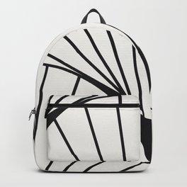 Diamond Series Round Sun Burst Charcoal on White Backpack