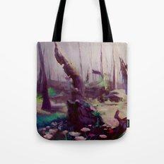 Rebirth | painted Bambi landscape Tote Bag