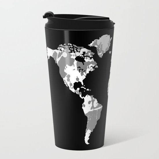 Monochromatic world map travel mug by hhprint society6 sciox Image collections