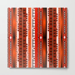 Ethnic stripes. Tribal pattern Indians. Metal Print