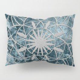 Star Mandala on Enigmatic Deep Blue Ocean Marble #1 #decor #art #society6 Pillow Sham