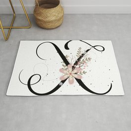 Letter X of the alphabet Rug