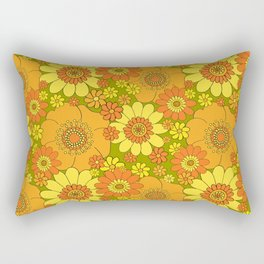 flower bunch with green base Rectangular Pillow