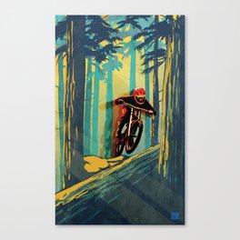 RETRO MOUNTAIN BIKE POSTER LOG JUMPER Canvas Print