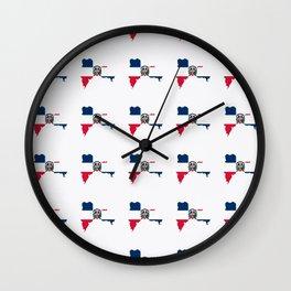 flag of the dominican republic 3-dominican,hispaniola,dominicana,antilles,caribean,santo domingo Wall Clock