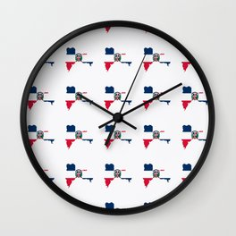 flag of the dominican republic 3-dominican,hispaniola,dominicana,antilles,caribean,santo domingo Wall Clock
