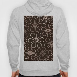 Abstract Flower Outlines Browns and Creams Hoody