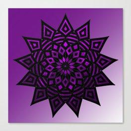 Purple Star | Tam Tam | Mandhala Canvas Print