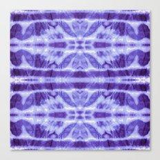 Tie Dye Twos Violet Hues Canvas Print
