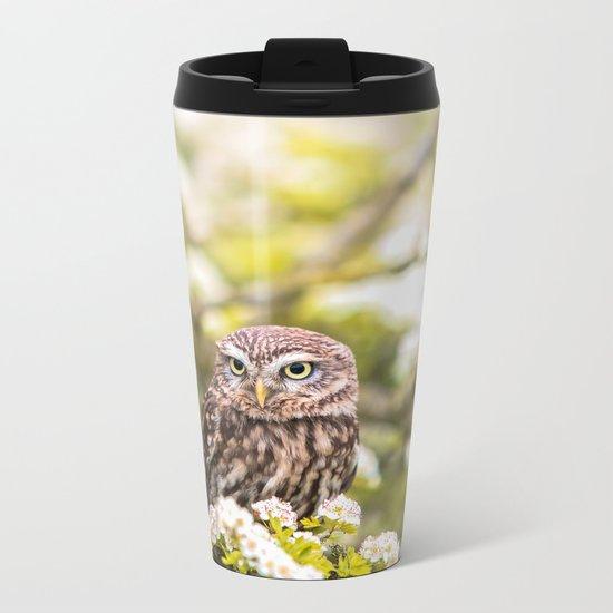 Wise Owl Metal Travel Mug