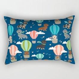 Dachshund hot air balloon dog cute design fabric doxie pillow decor phone case Rectangular Pillow