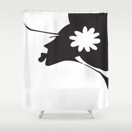 Harlem B/W Shower Curtain