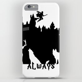 Potter clock and patronus group  iPhone Case