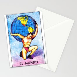 El Mundo Mexican Loteria Bingo Card Stationery Cards
