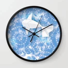 Origami Koi Fishes (Sky Pond Version) Wall Clock