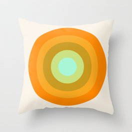 Slammin' - retro vibes 1970s style throwback bullseye circle infinity 70's Throw Pillow