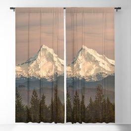 Mount Hood Vintage Sunset - Nature Landscape Photography Blackout Curtain