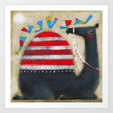 CAMEL CAP Art Print