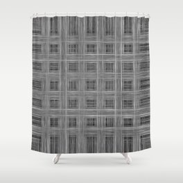 Ambient 10 in black and white Shower Curtain