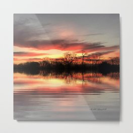 """Sunrise Lakefront"" Metal Print"