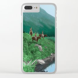 The Hunting Ground - Blackfoot American Indian Clear iPhone Case