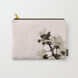 Blossoms Monochrome Carry-All Pouch
