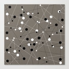 Molecular Pattern Canvas Print