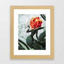 Alice in Wonderland Rose Framed Art Print