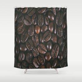 Coffee beans texture Shower Curtain