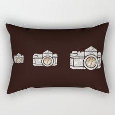 White Camera Rectangular Pillow