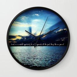 Sunset Lake Geneva Switzerland Wall Clock