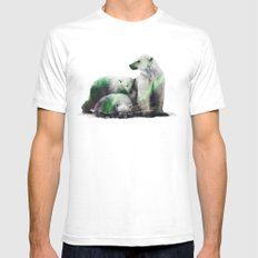 Arctic Polar Bear Family LARGE Mens Fitted Tee White