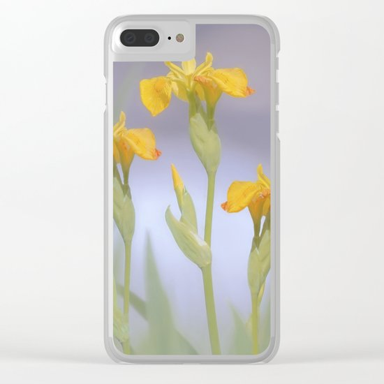 Wild Summer Iris Clear iPhone Case